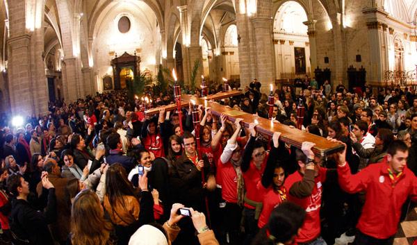 Se cumple un año del paso de la Cruz de la JMJ por la diócesis de Valencia