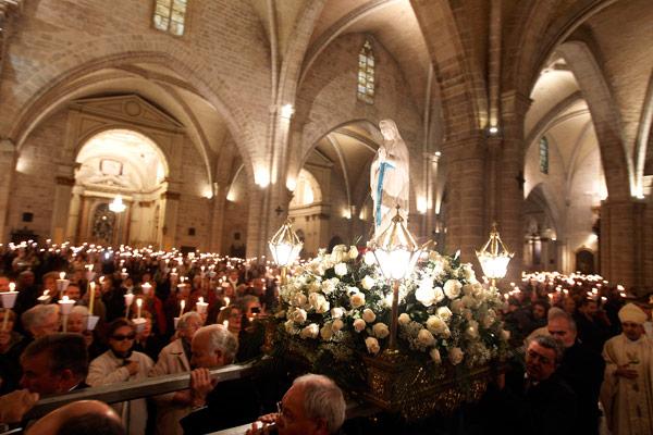 La 'misa de las antorchas' iluminará la Seo Con motivo de la Jornada Mundial del Enfermo