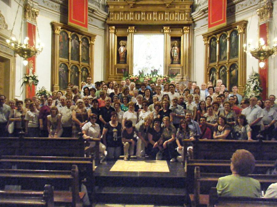 Fin de curso en Ontinyent del Instituto de Ciencias Religiosas Alrededor de 140 alumnos del IDCR peregrinan a Ontinyent con motivo del Año Santo Mariano