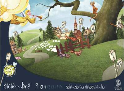 Calendario de Adviento y Navidad interactivo 2012 Una ilustración animada que recorre día a día todas las semanas estos dos tiempos litúrgicos