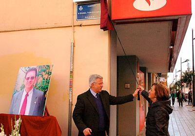 El salesiano Ángel Tomás, recordado con la inauguración de una calle a su nombre En Valencia, entre la calle Sagunto y la avenida de la Constitución