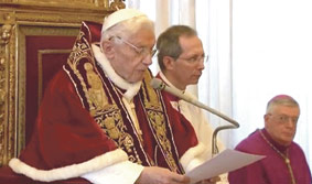 Ante la renuncia de Benedicto XVI al ministerio petrino Por monseñor Enrique Benavent Vidal, obispo auxiliar de Valencia