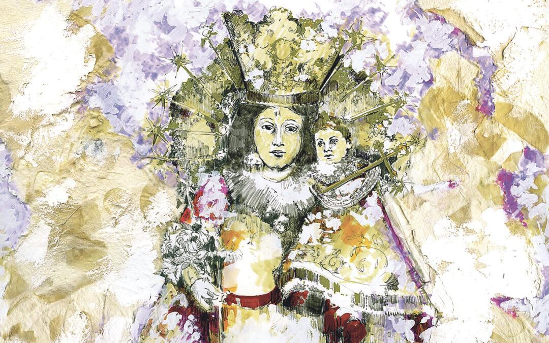 Una Mare de Déu para los hogares valencianos El artista Armando Serra entrega al Arzobispo un cuadro que será reproducido en 15.000 copias