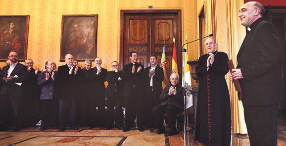 """Emocionante despedida de Mons. Benavent  tras una década como obispo auxiliar de Valencia En su discurso al hacerse público su nombramiento como obispo de Tortosa, destacó dos palabras: """"gracias"""" y """"perdón"""""""