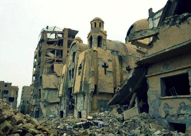 Siria: destruida la última iglesia católica en Mesopotamia Era la única iglesia en Deir Ezzor que aún permanecía casi intacta