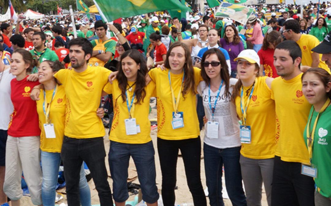 """Preparados para 'armar lío' Vuelven """"apasionados por la claridad del Papa""""los  264 jóvenes valencianos: """"Dios nos ha tocado el corazón"""""""