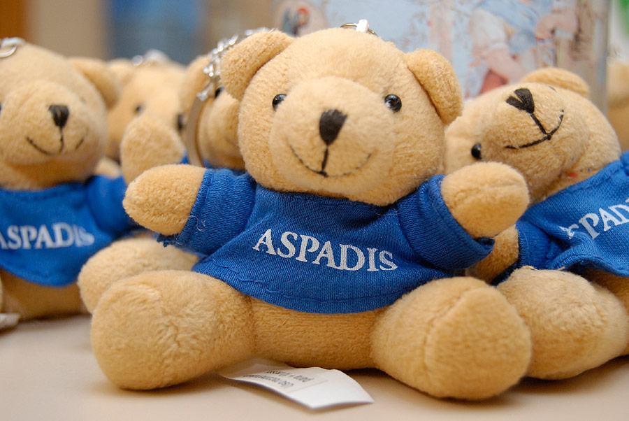 6.000 ositos de peluche, en  llaveros, para ayudar a ASPADIS Se vende en las sedes de ASPADIS, UCV y COPE Valencia