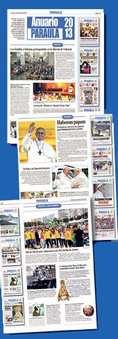 PARAULA ofrece el 'Anuario 2013' Las portadas, imágenes y noticias más destacadas del año