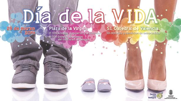 Valencia dice 'sí a la vida' Testimonios, actuaciones musicales y misa en la Catedral con bendición de embarazadas, el 29 de marzo