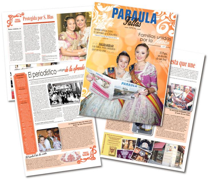 PARAULA publica un especial con motivo de las Fallas Entrevistamos a las falleras mayores de Valencia, Carmen y Claudia