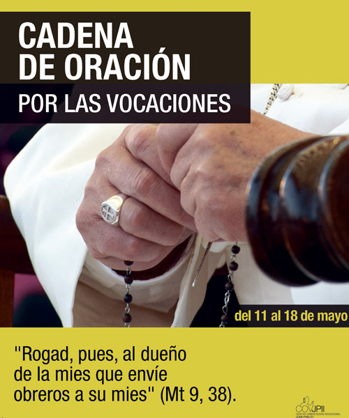 Concluye la  'Cadena de  oración por las vocaciones' En la iglesia de Santa Catalina de Valencia, a las 18:30 horas