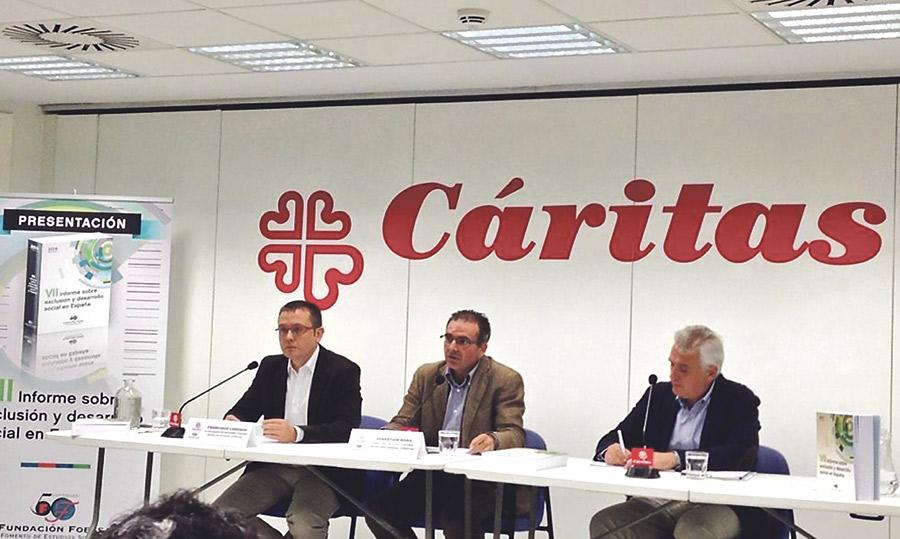 Cáritas constata que la población excluida ha  aumentado y que asciende ya al 25% En el VII Informe sobre exclusión y desarrollo social en España