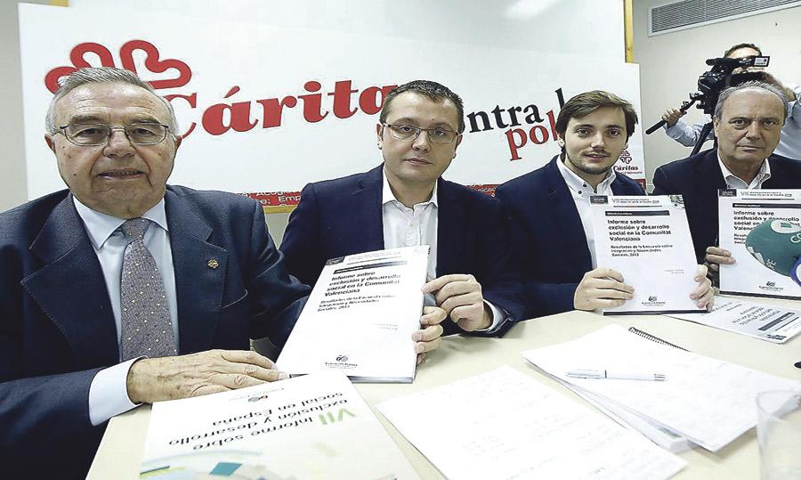 La pobreza y la exclusión social alcanza ya al 31% de habitantes de la C. Valenciana Según el informe FOESSA presentado por Cáritas