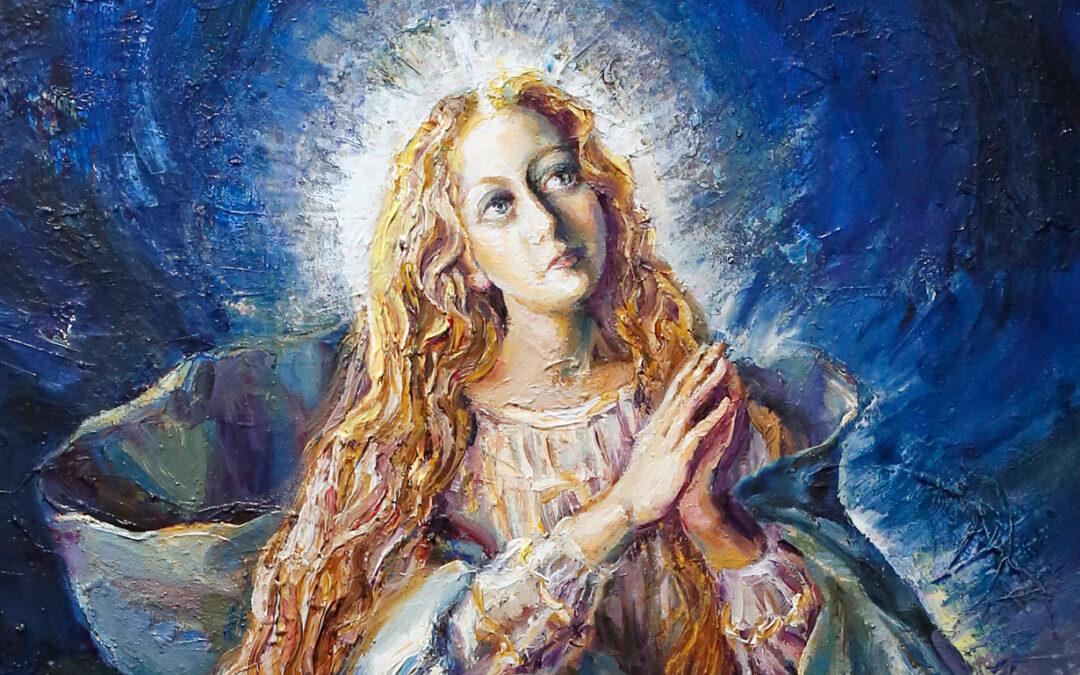 Inmaculada Estrella Última poesia pictórica a la Virgen de Juan de Ribera Berenguer