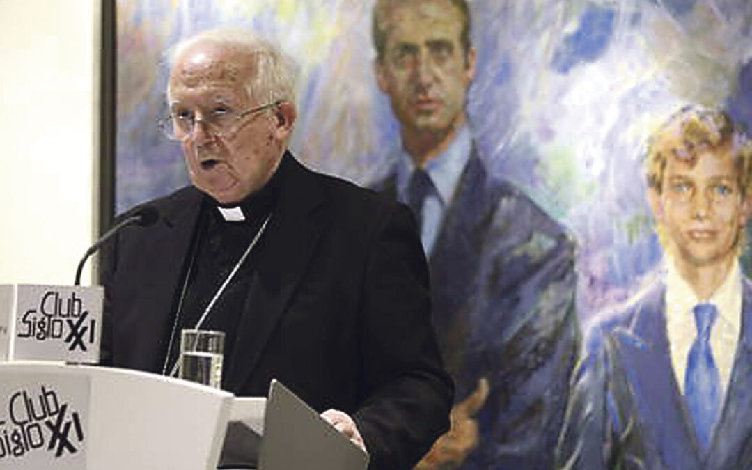 """Card. Cañizares:""""La Iglesia tiene que estar hincada  de rodillas delante de los últimos y más humildes de la tierra"""" En una conferencia ofrecida en el club siglo XXI de Madrid"""