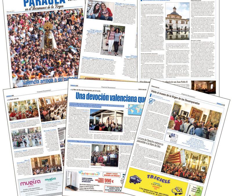 Con la Mare de Déu, en  el corazón de Valencia PARAULA publica el suplemento especial Besamanos de la Virgen