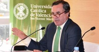 """Ignacio Sánchez Cámara, nuevo rector de la Universidad Católica de Valencia El Cardenal agradece a José Alfredo Peris su """"magnífico trabajo"""""""