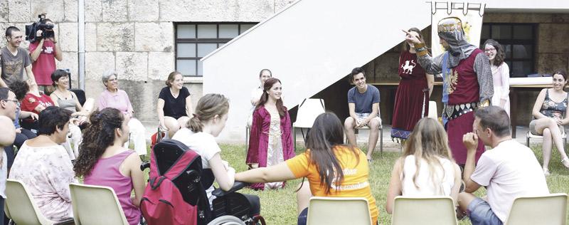 El reino de los 'Anawin' Personas con discapacidad acampan en el Seminario