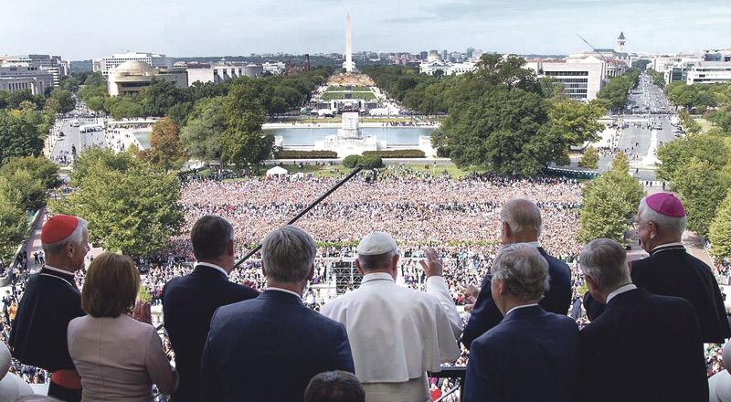 """Francisco conquista EE.UU. En el primer discurso de un papa en el  Capitolio, pide la  abolición mundial  de la pena de muerte y reclama en la ONU un """"absoluto  respeto de la vida en todas sus etapas"""""""