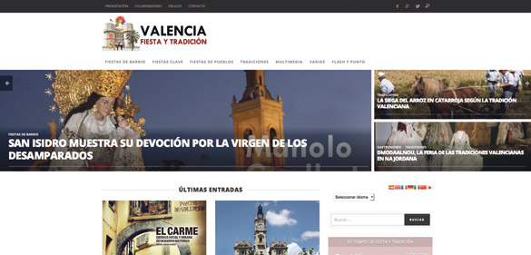 El fotógrafo Manolo Guallart estrena web de tradiciones y fiestas valencianas La página valenciafiestaytradicion.com engloba diferentes aspectos culturales