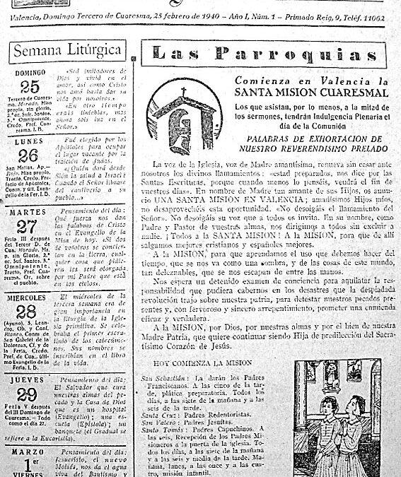 El semanario 'Aleluya' del Arzobispado cumple 75 años El próximo 25 habrá una misa y un acto conmemorativo