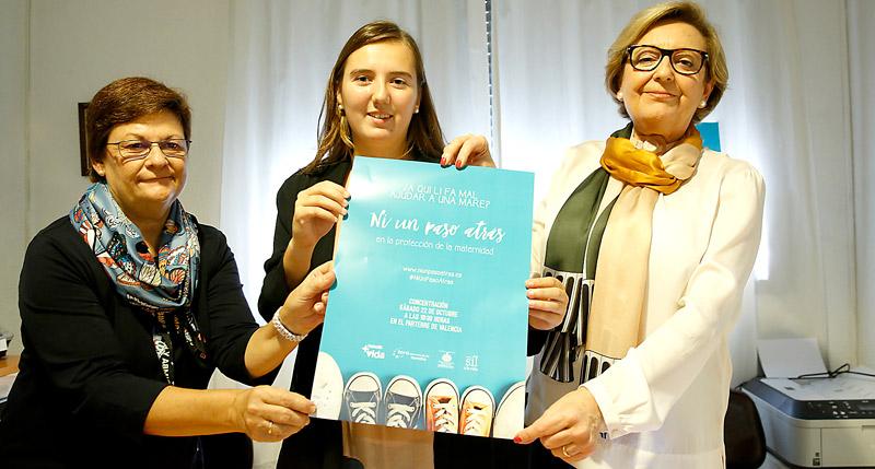 El 22 de octubre en el Parterre, concentración para la protección de la maternidad Se recogerán firmas para pedir que no lse derogue la Ley de 2009