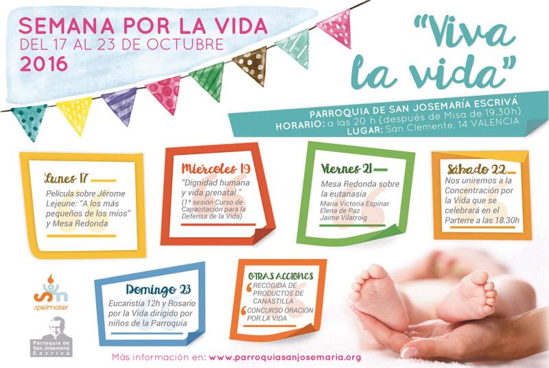 'Viva la vida', una semana para defender la vida humana En la parroquia San Josemaría Escrivá del 17 al 23 de octubre