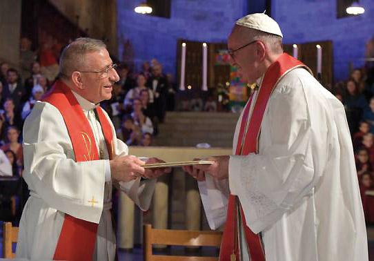 """El Papa a los luteranos: """"hemos comenzado el camino de la reconciliación"""" En Suecia al conmemorarse los 500 años desde la Reforma protestante"""
