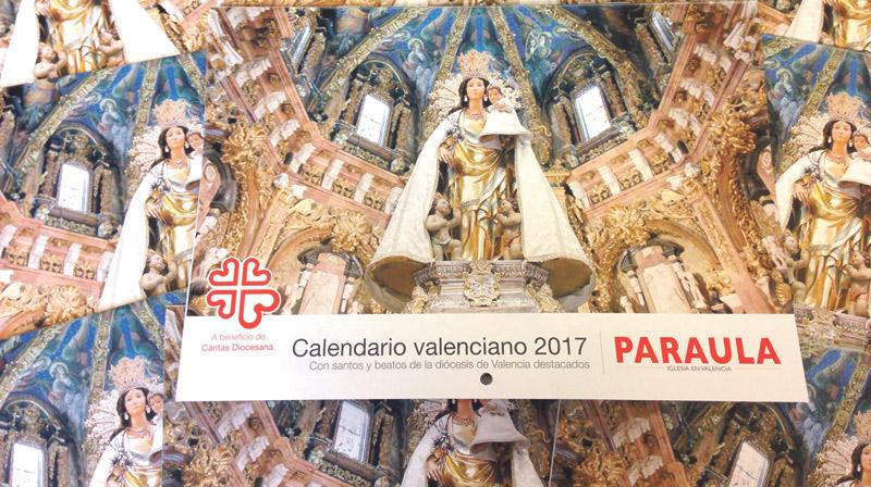 El calendario de PARAULA del 2017, ya a la venta Por 3 euros a beneficio de Cáritas Diocesana de Valencia