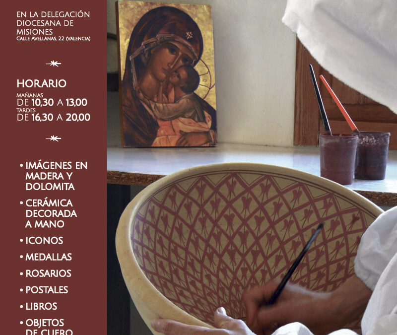 Desde el lunes 14, exposición en Valencia de artesanía monástica Hasta el 10 de diciembre en la calle Avellanas 22