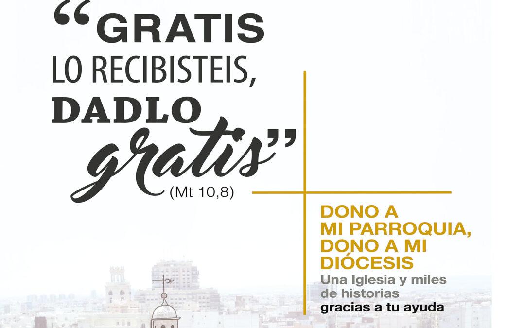 La iniciativa 'Dono a mi Iglesia'  de la CEE, en marcha en Valencia Desde la web www.donoamiiglesia.es se canalizan los donativos