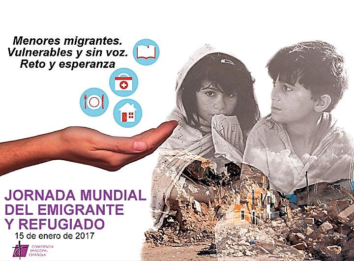 """""""Vulnerables y sin voz"""", los niños protagonizan la Jornada Mundial del Emigrante y Refugiado Su situación se ve agravada por problemas de identificación"""