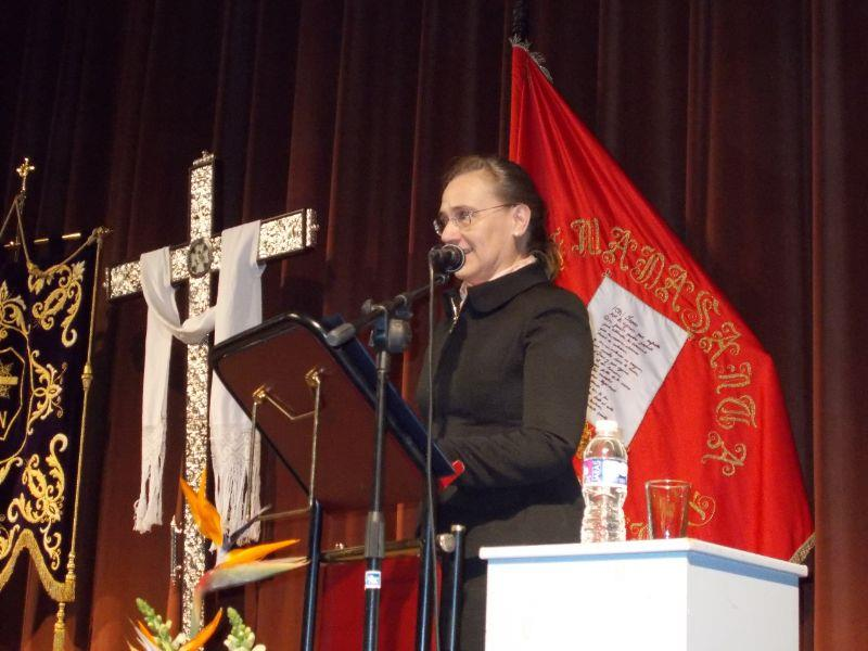 Mari Paz Gómez pronuncia el pregón de la Semana Santa de Alberic