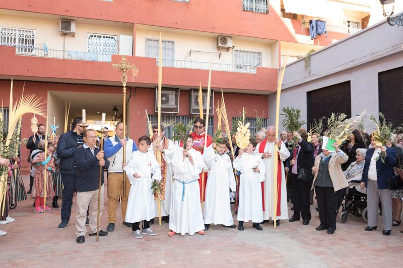 Bendición de ramos y procesión en Monteolivete