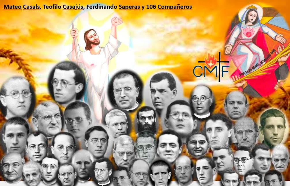 Los Claretianos peregrinarán a Barcelona en octubre Para la beatificación de sus mártires