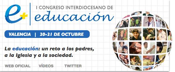Abiertas ya las inscripciones on line para el  I Congreso Interdiocesano de Educación Con el lema 'Un reto a los padres, a la Iglesia y a la sociedad',  20 y 21 de octubre
