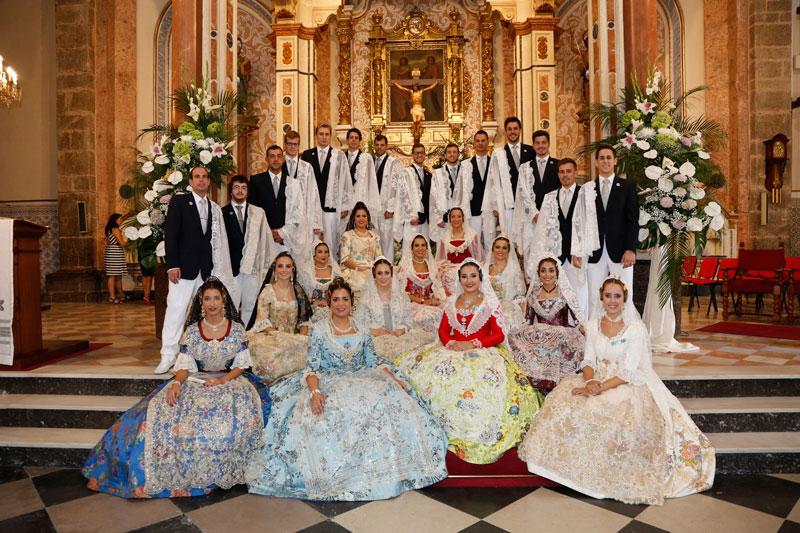 Fiestas en honor a la Virgen al Pie de la Cruz en Puzol Un grupo de jóvenes ha presidido las fiestas