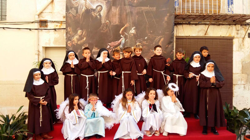 Cocentaina celebra la 'festa dels altarets' En la fiesta de Cristo Rey
