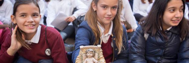 1.500 niños, pregoneros de la Navidad en las  calles de Valencia Nueva edición de 'Nadalenques al carrer', organizado por la delegación diocesana de Enseñanza