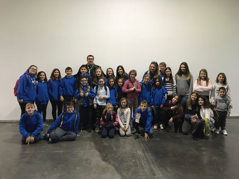 Los Juniors de los Valles visitan Expojove Se trata de una de las actividades programadas para el tiempo de Navidad por parte de esta entidad juvenil