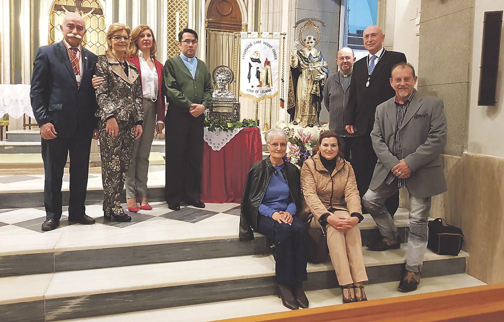 Fieles de L'Eliana veneran la reliquia de San Vicente Ferrer En el día de su solemnidad