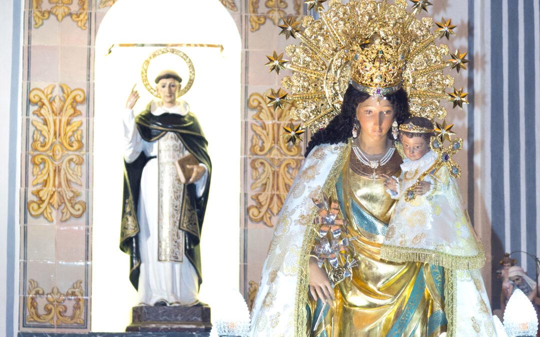 Jubiloso recibimiento en Llíria a la Mare de Déu consanVicente Ferrer de anfitrión excepcional Arropada por su devoción y su música, acude a los lugares que recorrió el santo en 1410