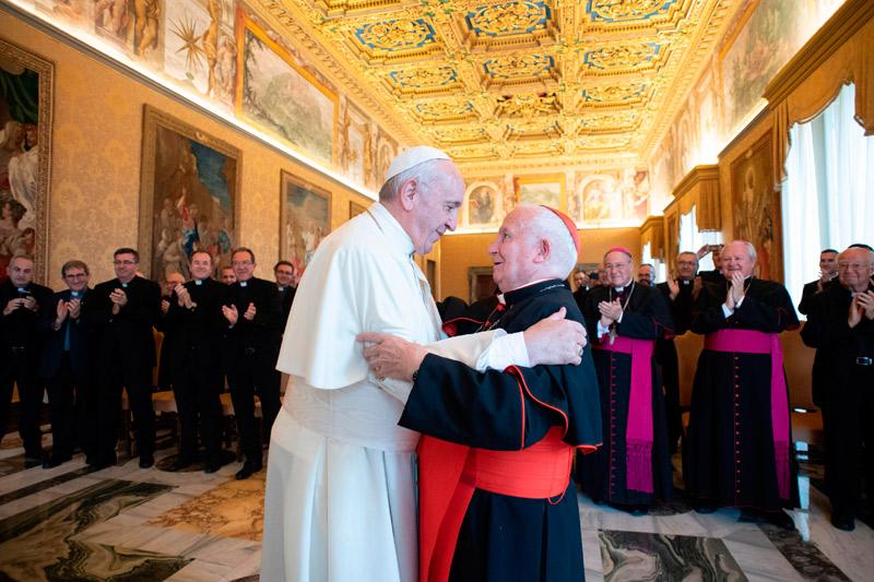 """El Papa: """"Valencia es tierra de santos"""" Francisco recibe al Arzobispo y al Consejo Episcopal, que le expresan la """"inquebrantable comunión de toda la diócesis"""""""