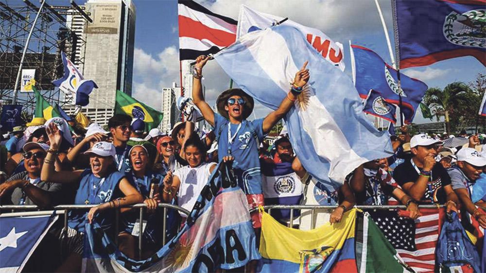 #españolesporlaJMJ Los peregrinos valencianos participan en la Jornada Mundial de la Juventud de Panamá con el Papa
