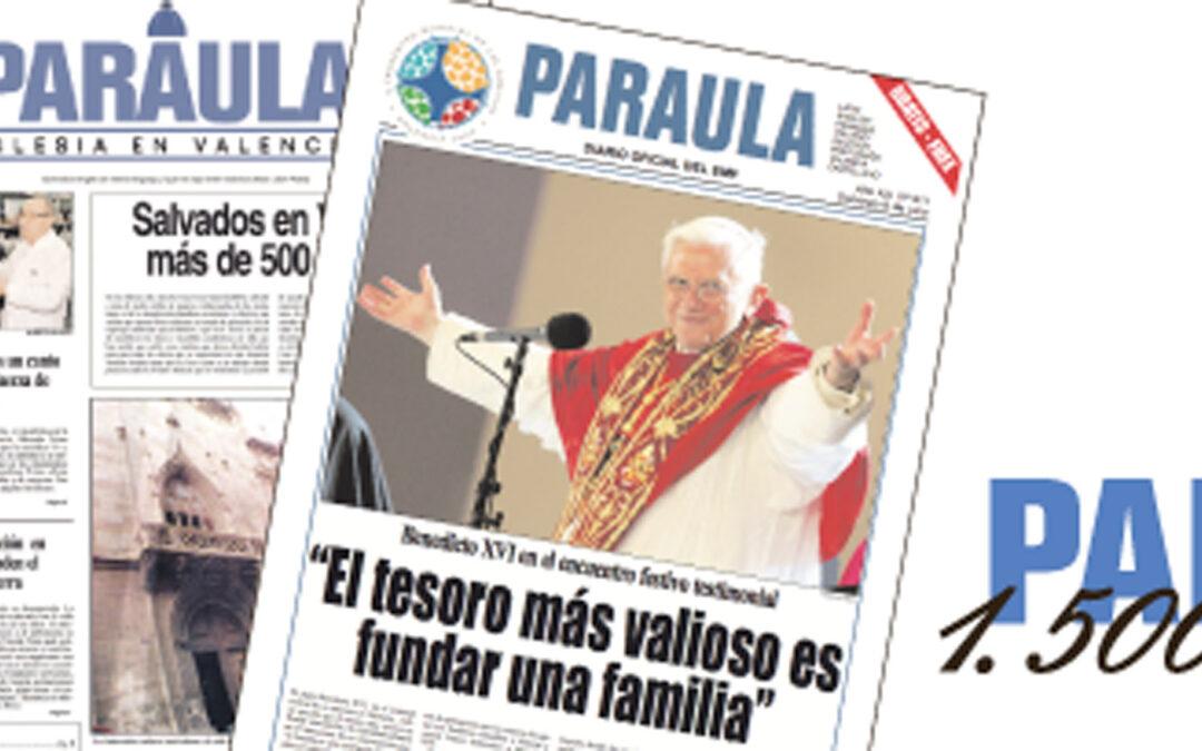Del Sínodo Diocesano al Año Santo Vicentino:  tres décadas de noticias sobre la Iglesia en Valencia PARAULA llega a los 1.500 números desde su fundación en 1987 por el arzobispo Miguel Roca