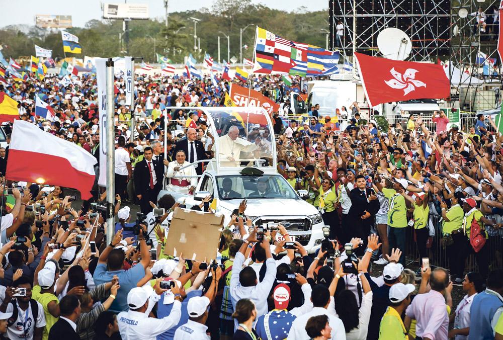 """""""Jóvenes, sois el ahora de Dios"""" El papa Francisco anima a los participantes en la JMJde Panamá a poner en acción """"el sueño con el que el Señor os soñó"""""""