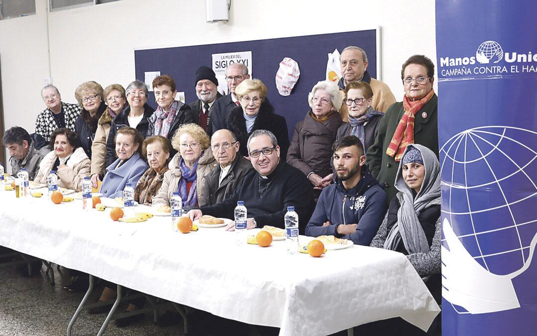 Parroquias y colegios se vuelcan con Manos Unidas en las cenas y almuerzos del hambre La ONG de la Iglesia presentó su campaña número 60 centrada en la mujer