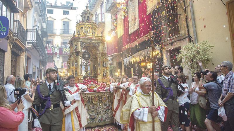 Las procesiones del Corpus, canceladas en la diócesis de Valencia por la pandemia Se celebrarán las misas solemnes en la Catedral y las parroquias el 14 de junio, pero no actos externos
