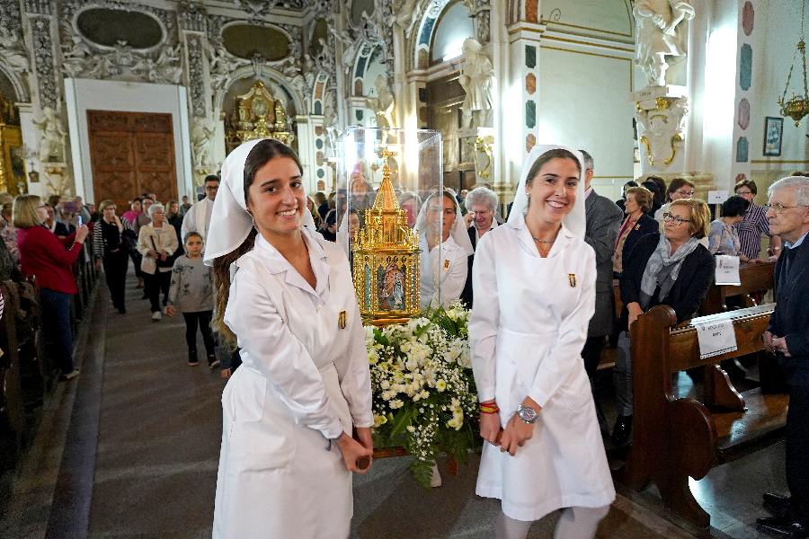 Las reliquias de santa Bernadette, recibidas por las 'hijas preferidas' de Nuestra Señora