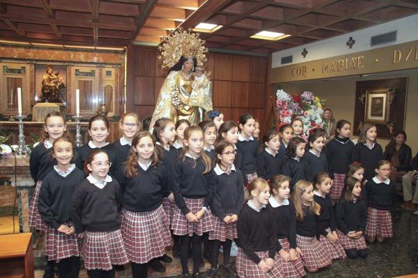 Visita Virgen de los Desamparados al colegio Guadalaviar